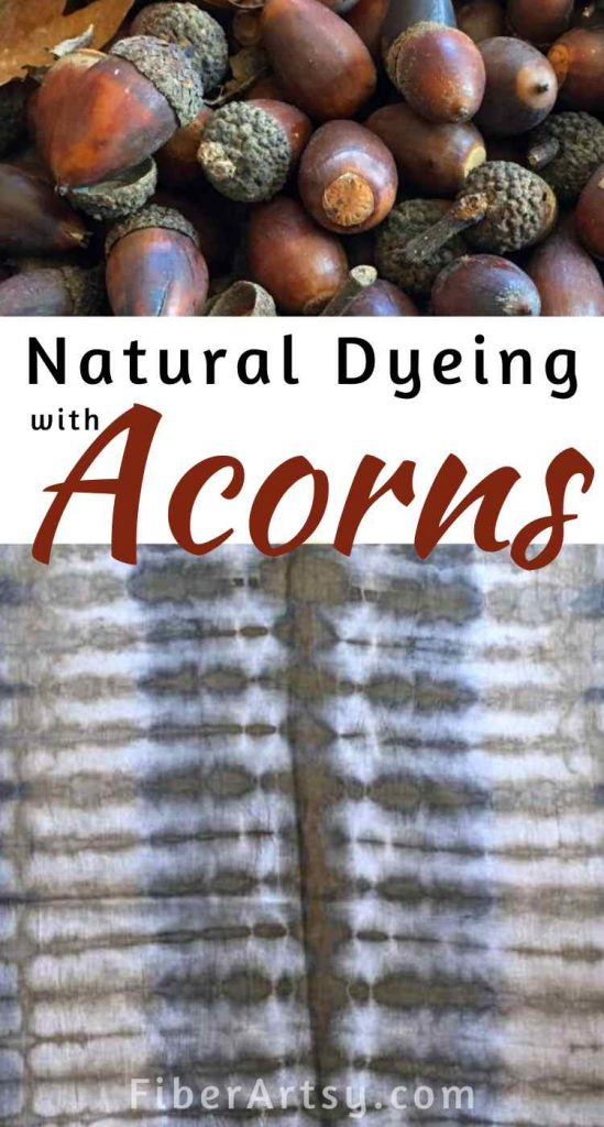 Natural Fabric Dyeing with Acorns