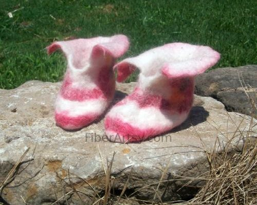 Wet Felted Children's Slippers