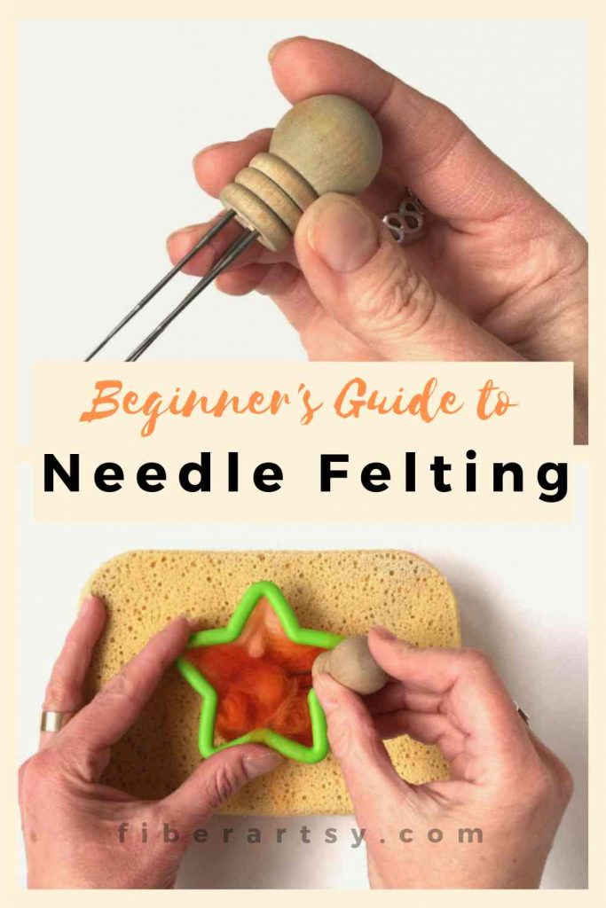Beginner's Guide to Needle Felting - how to needle felt wool or wool roving