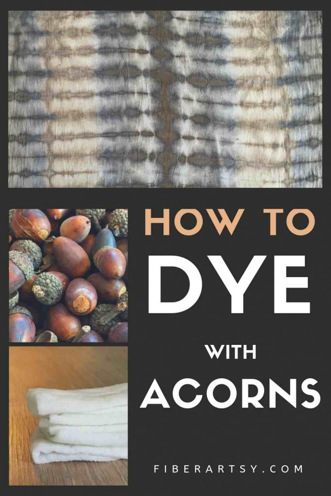 Learn how to make a natural yarn and fabric dye using acorns