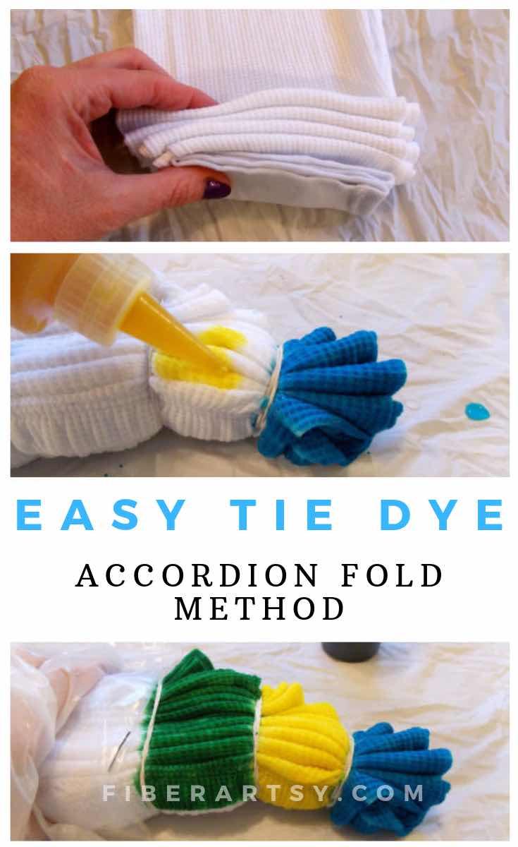 Easy Tie Dye Technique Accordion Folding
