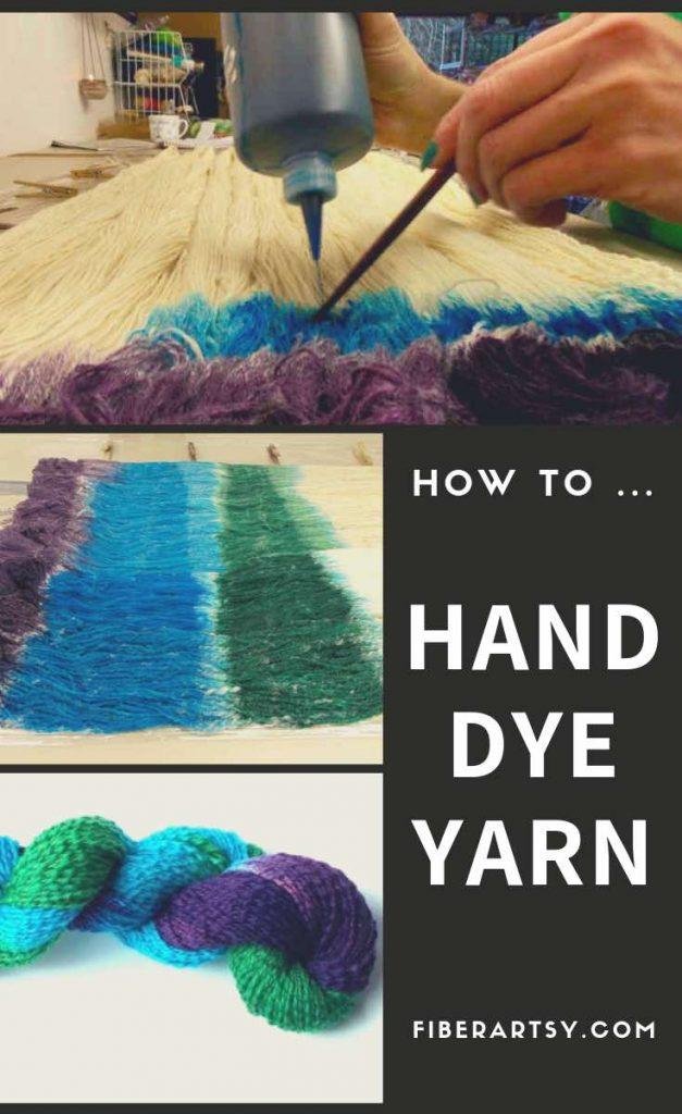How to Hand Dye Yarn