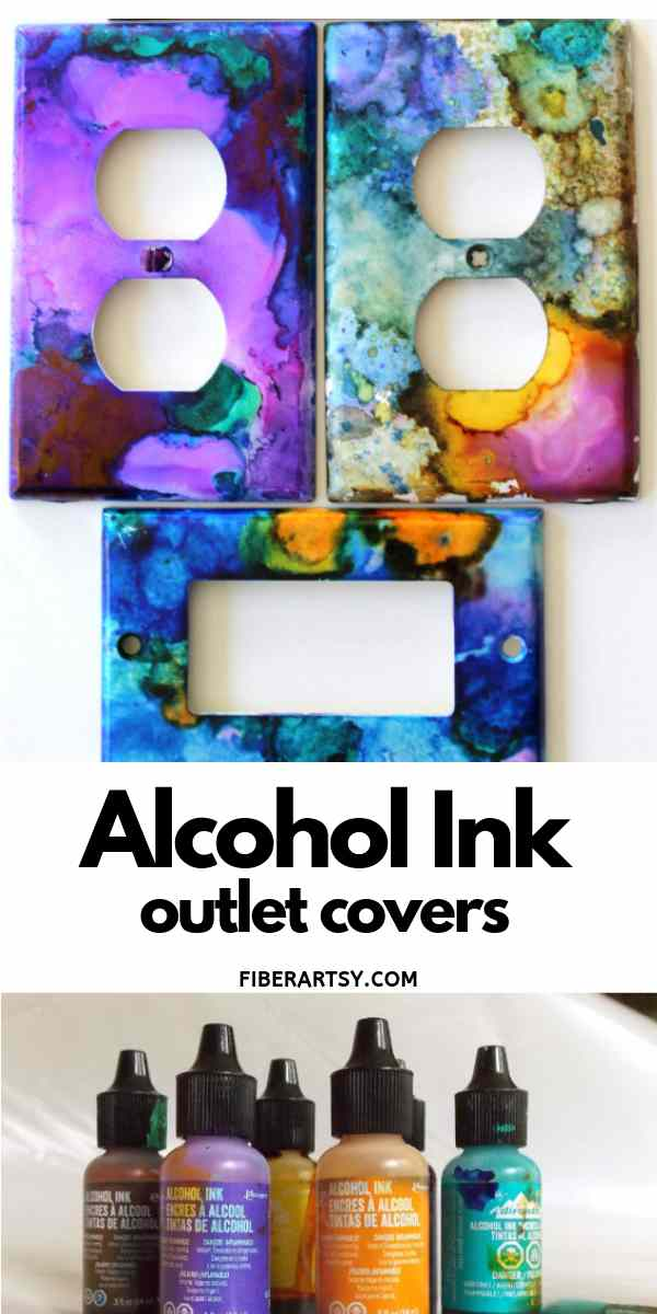 Alcohol Ink Painted Outlet Covers