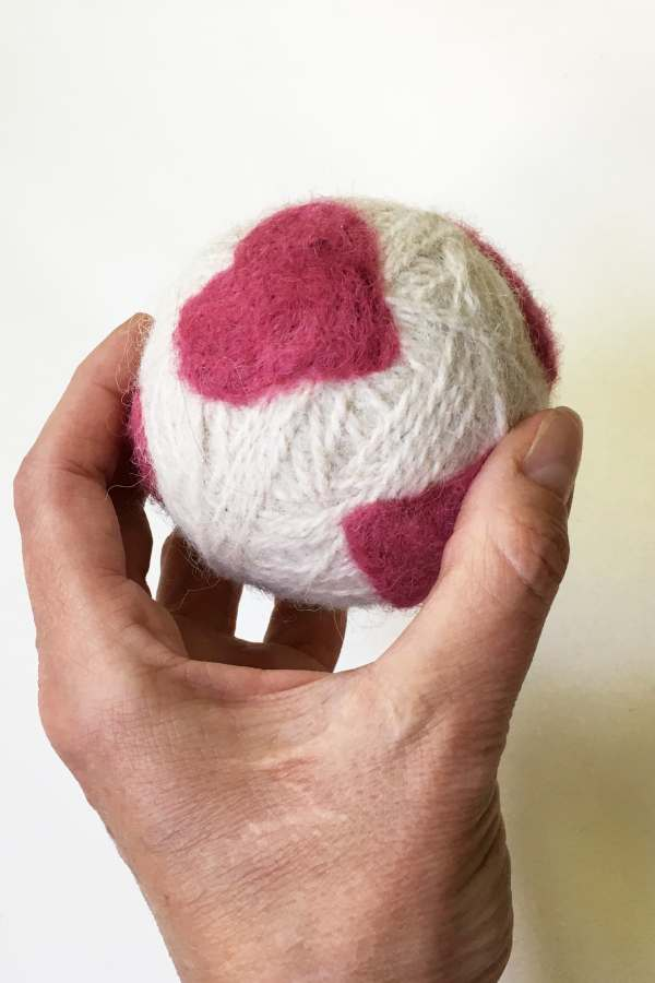 Dryer Ball with Felted Designs
