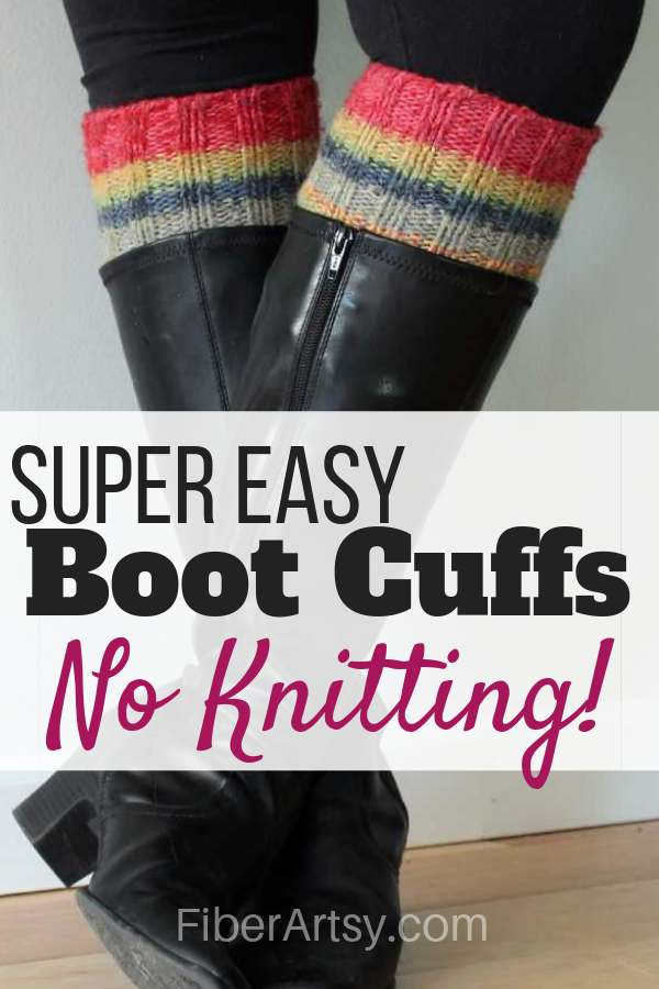 DIY Boot Cuffs from a Sweater
