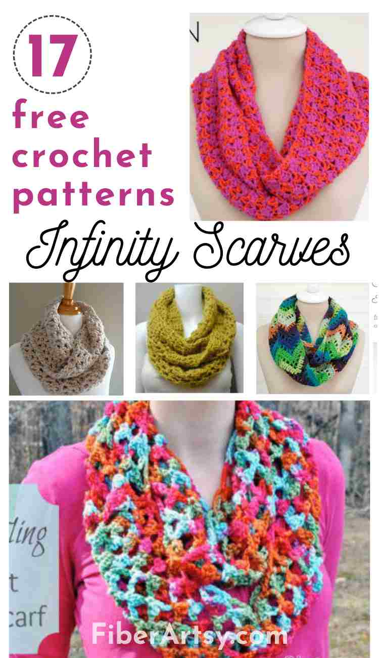 17 Free Crochet Patterns for Infinity Scarves