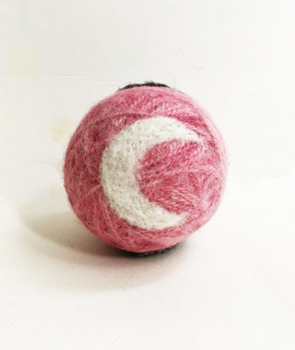 Wool Dryer Ball with a Moon Shape