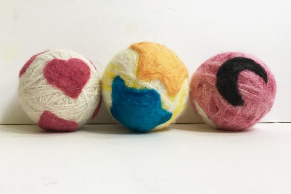 Needle Felted Wool Dryer Balls