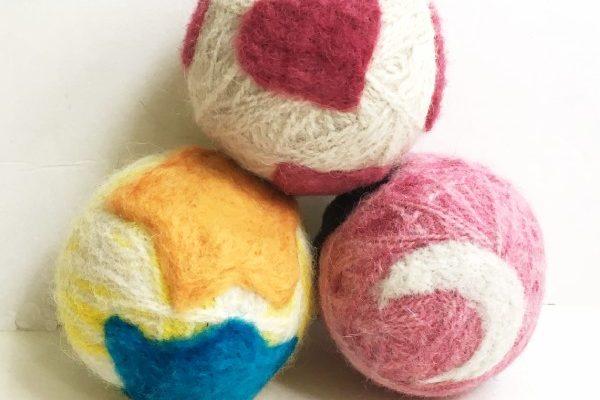 Needle Felted DIY Wool Dryer Balls