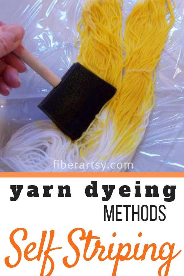 How to Dye Self Striping Sock Yarn
