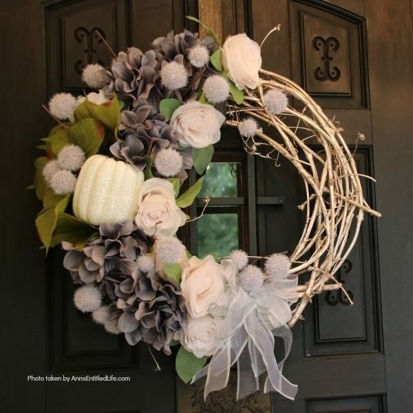 Shabby Chic Autumn Wreath