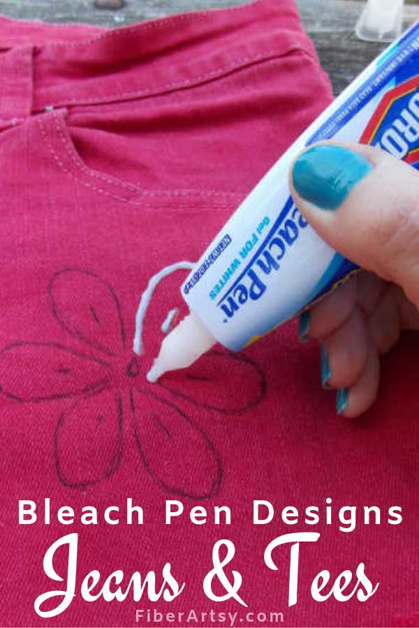 Reverse Dyeing with a Bleach Pen