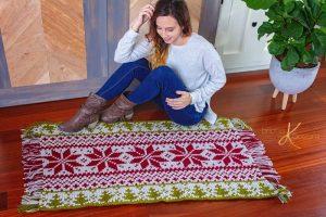 Fair Isle Holiday Crochet Rug