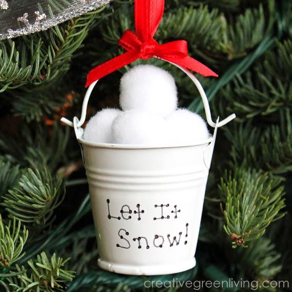 Dollar Tree Snowball Ornaments