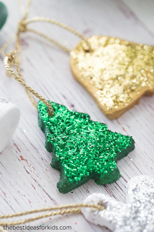 Salt Dough Glitter Ornaments