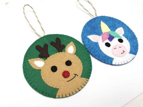Handmade Felt Reindeer Ornaments