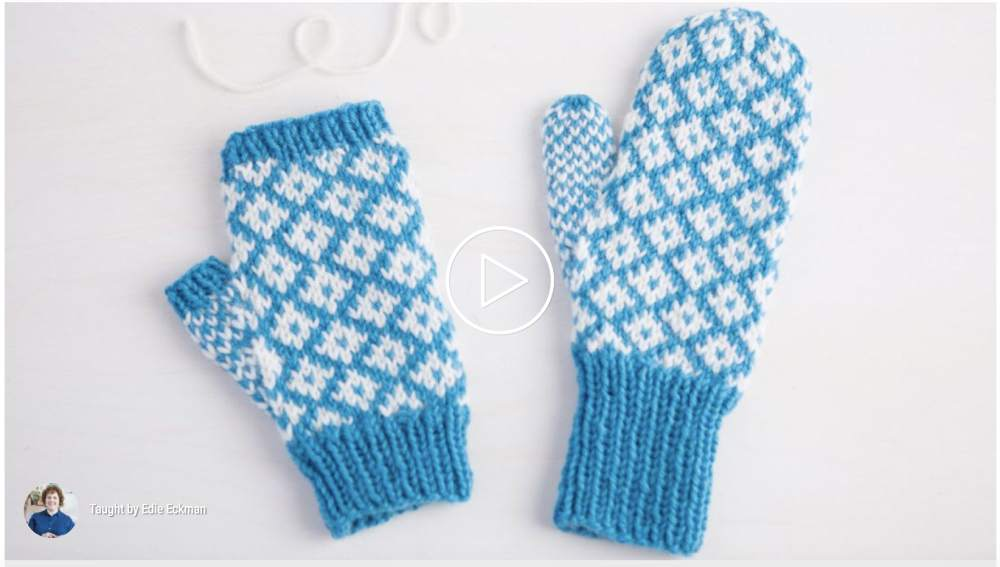 Online class for knitted mittens