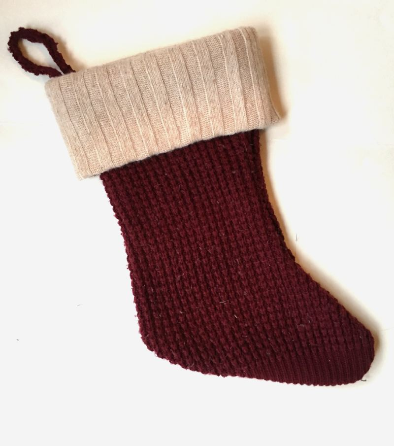 DIY Christmas Stocking from a Sweater