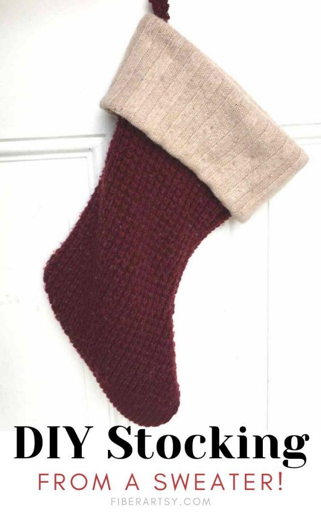 Easy DIY Sweater Stockings