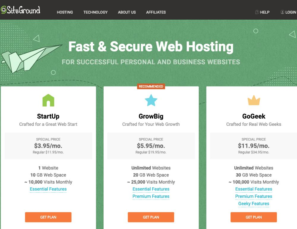 Sign up for Web Hosting