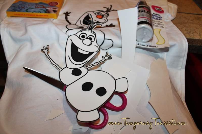 DIY Frozen T Shirt Craft