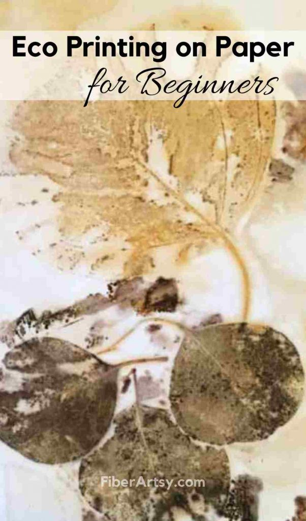 Eco Printing on Paper Tutorial