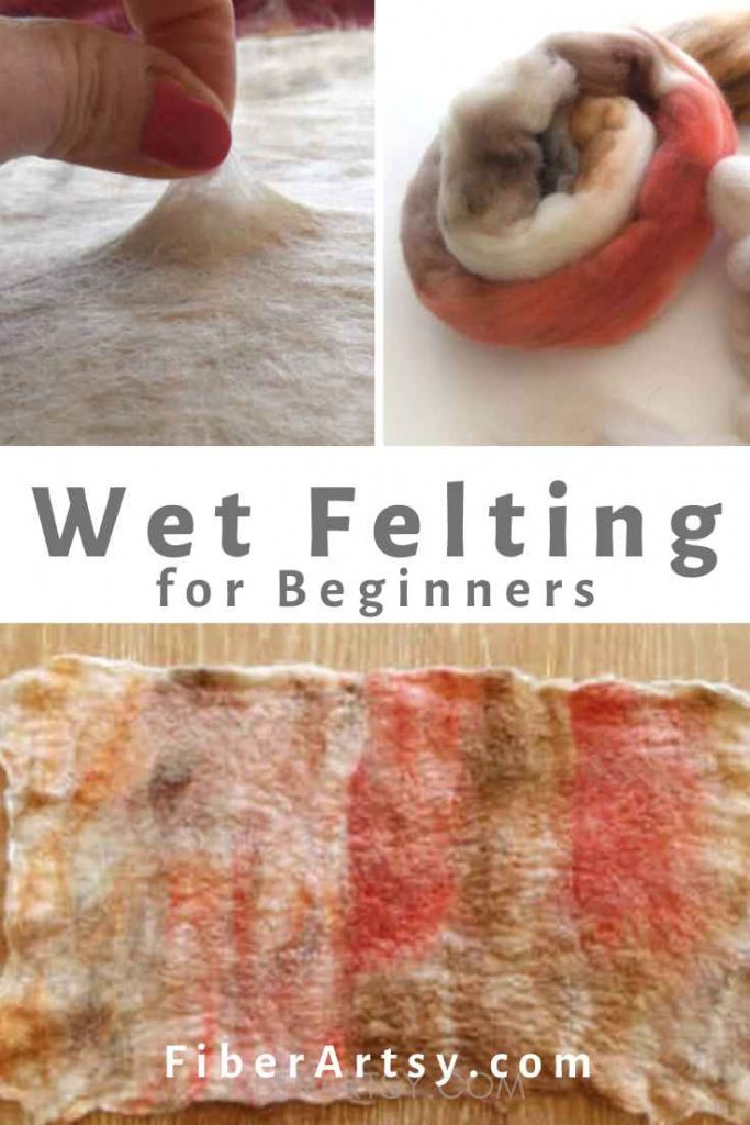 How to Make Felt with the wet felting technique