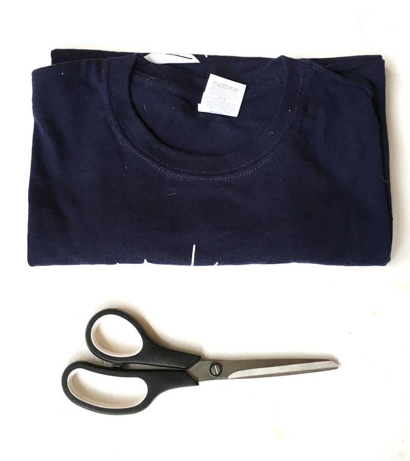 Old T Shirt and Fabric Scissors