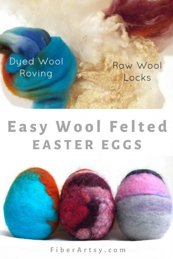 Wet Wool Felt Easter Eggs