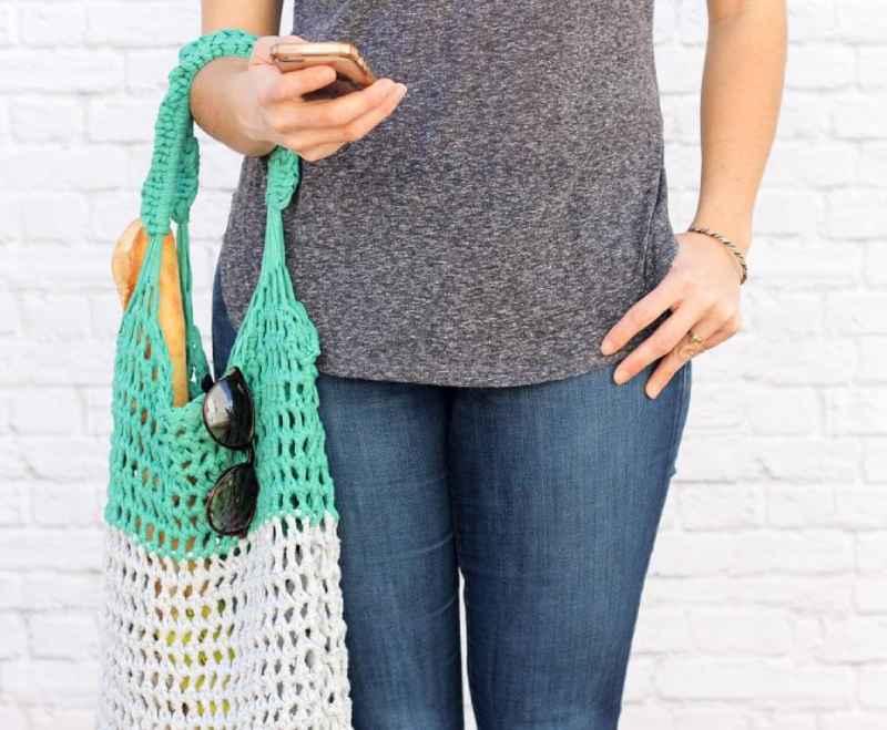 Beginner Finger Crochet Market Bag