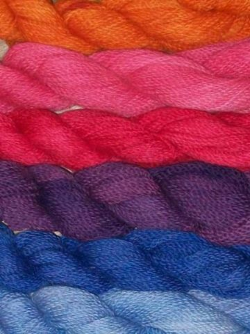 Hand Dyed Skeins of Yarn