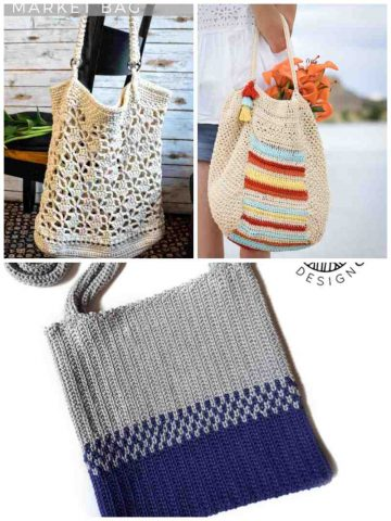 Crochet Patterns for Market Bags and Totes