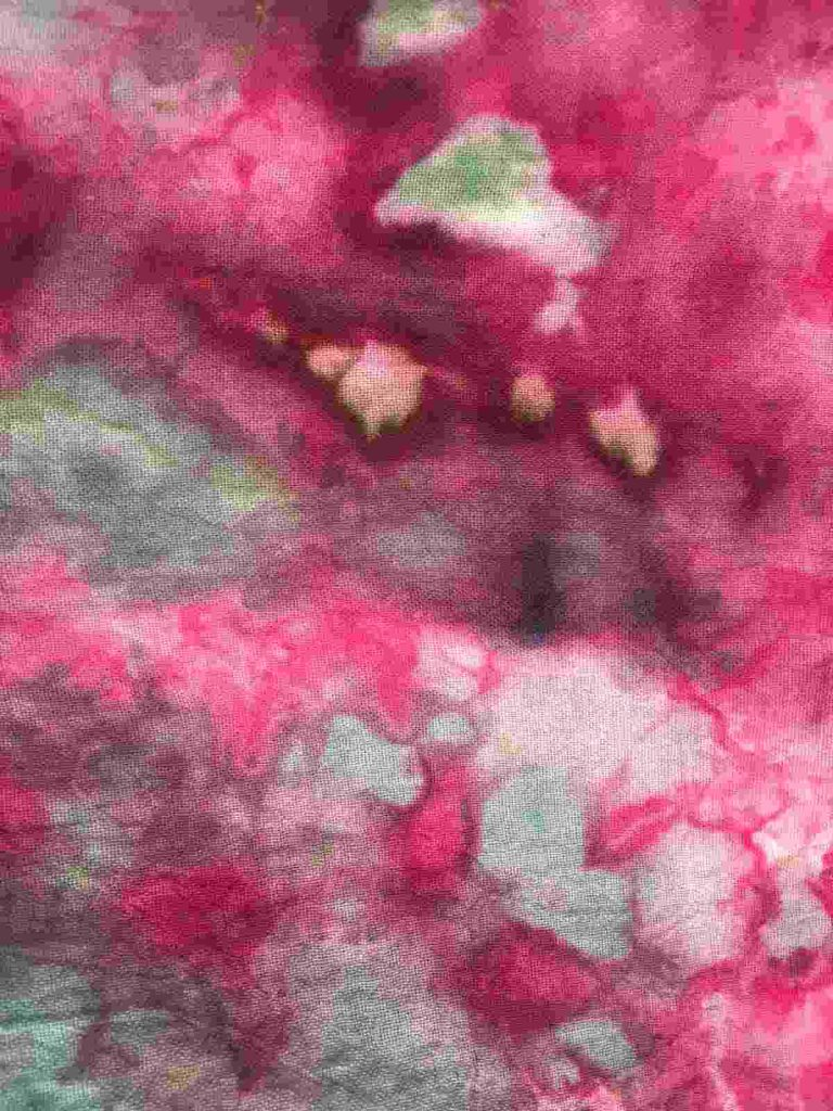 Close up of ice dyed cotton towel