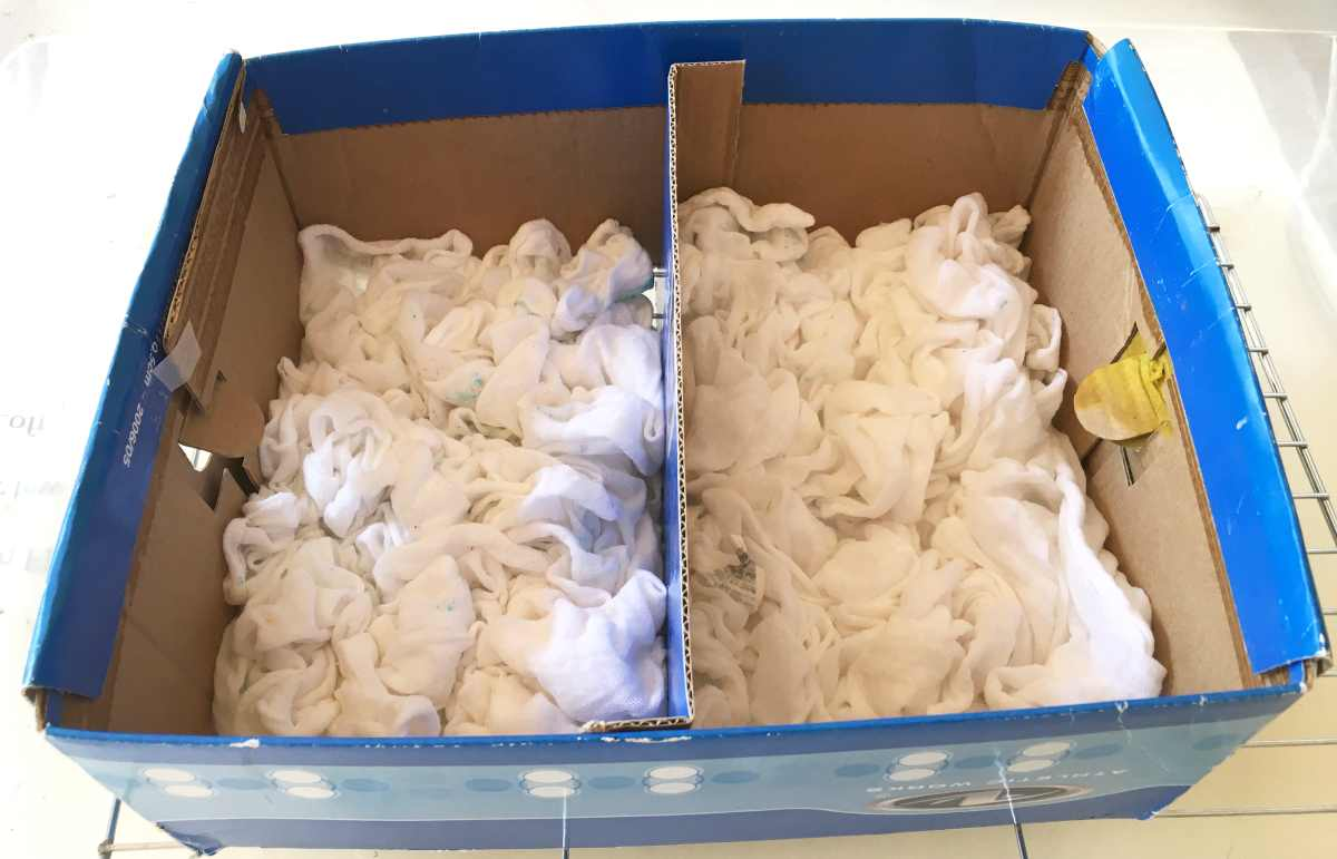 Cotton towels for ice dyeing
