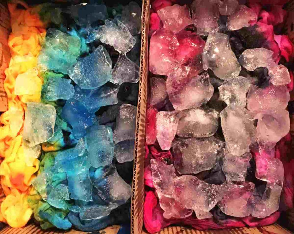 How to Ice Dye on Cotton Fabric