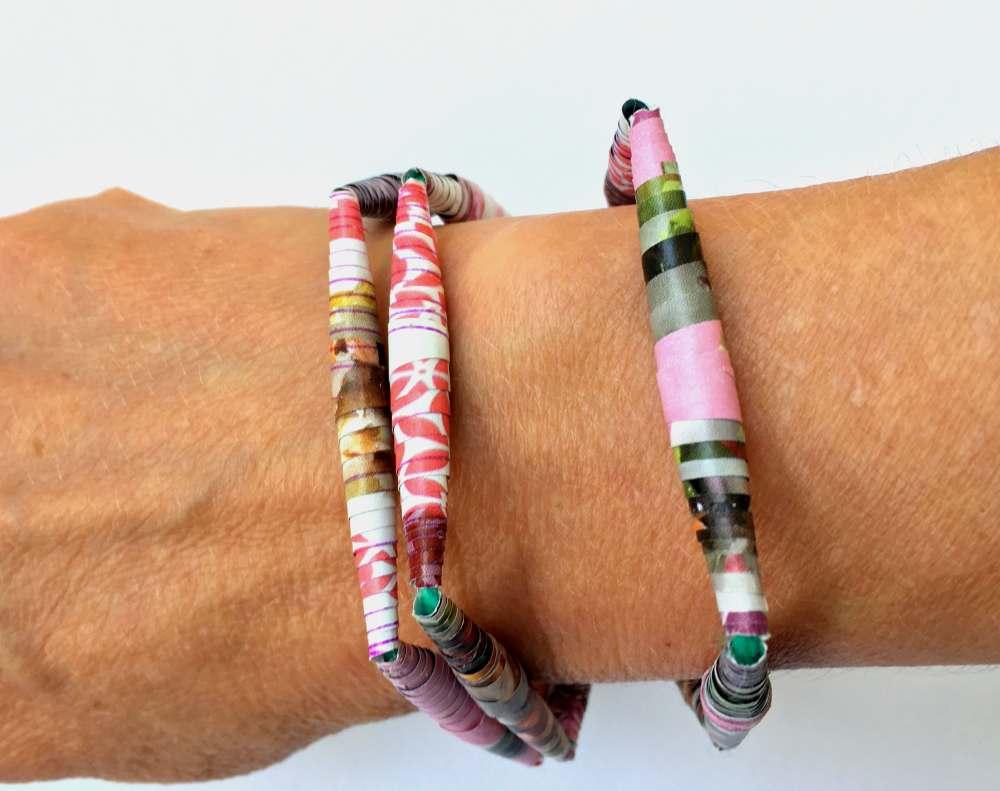 Paper Beads DIY Bracelet