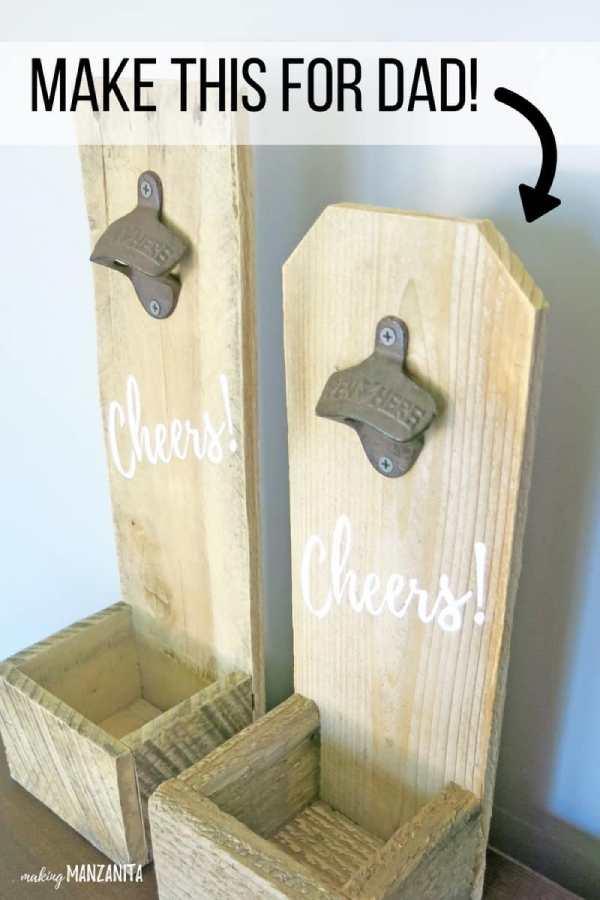 Reclaimed Wood Bottle Openers