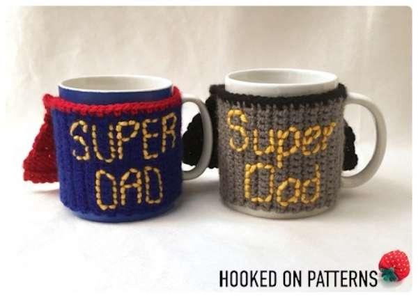 Crochet Pattern Coffee Cup Cozy Gift Idea