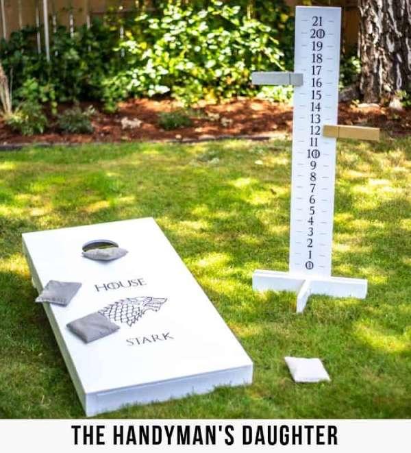 DIY Cornhole Scoreboard Father's Day Present to make