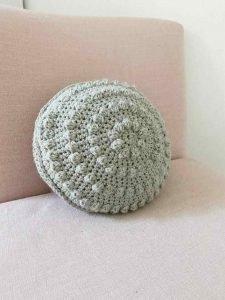Bobble Pillow Free Crochet Pattern