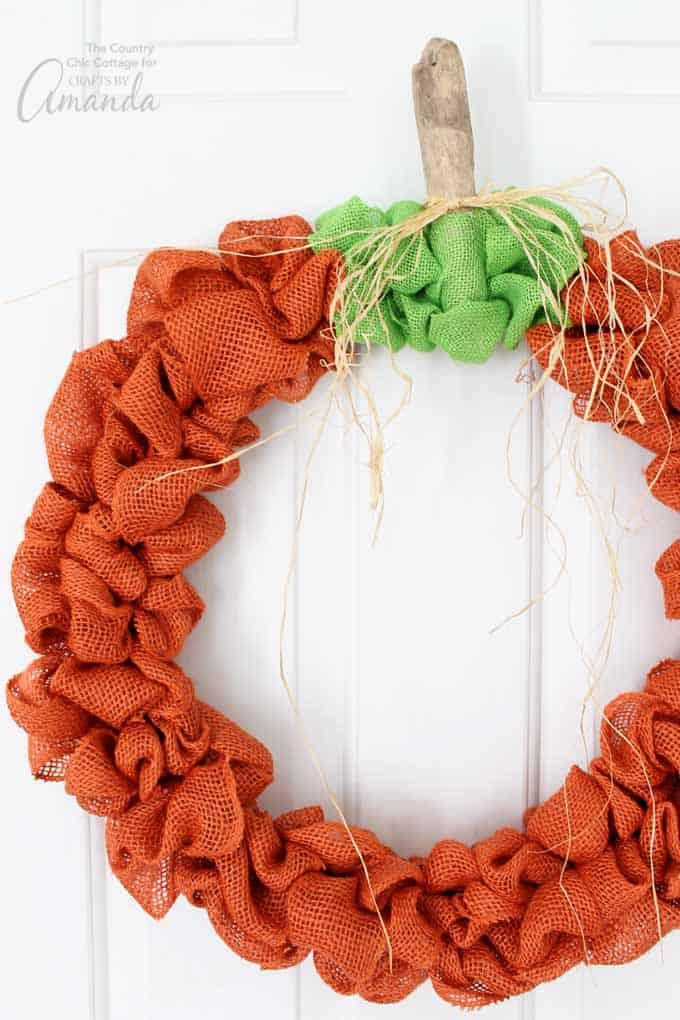 Pumpkin Burlap Wreath