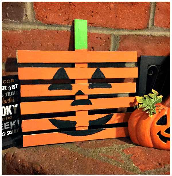 Pumpkin made from wood slats
