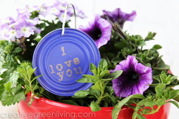 Tin Can Lid Garden Plant Marker