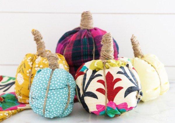 No Sew Fabric Pumpkins tutorial