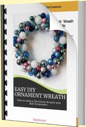 How to make a Christmas Wreath with Ball Ornaments Tutorial
