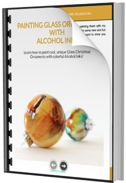How to Paint Glass Ornaments with Alcohol Inks