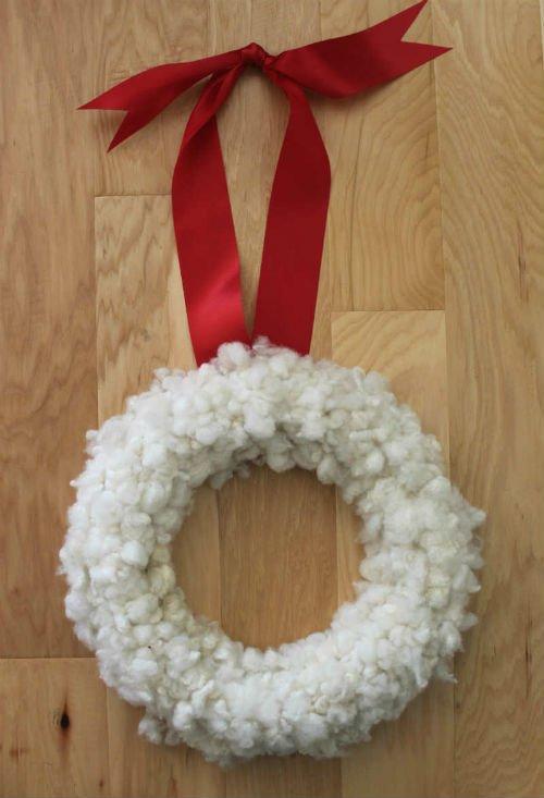 Christmas Wreath handmade with wool