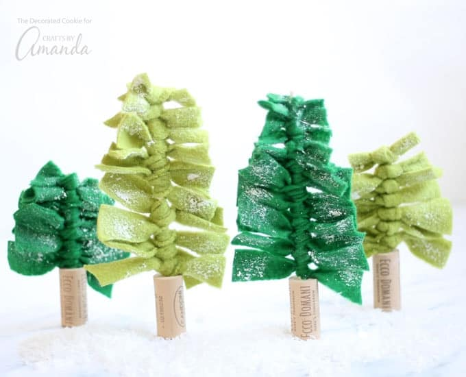 Easy Craft - Felt Christmas trees