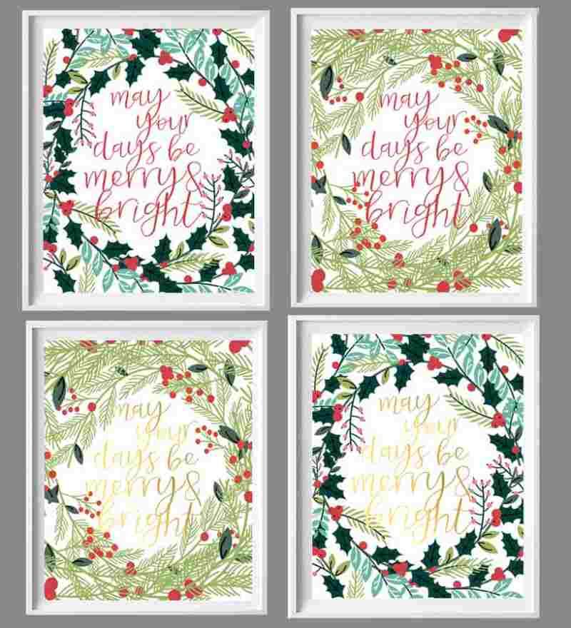 Easy Christmas Decor printable