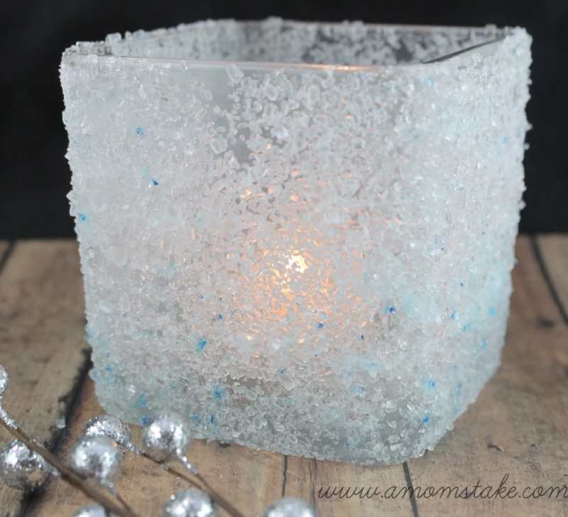 how to make a Frosted Candle Holder